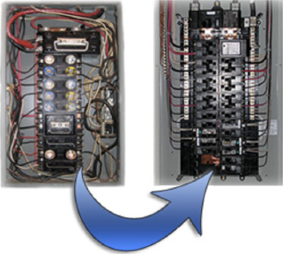 service panel upgrades insurance companies usually get uptight when they out the home has a fuse panel and recommend that the panel be changed to a breaker panel system